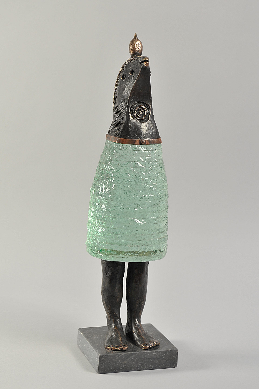 Lemon girl 48x12x12 cm Brons glas1 SJAAK SMETSERS