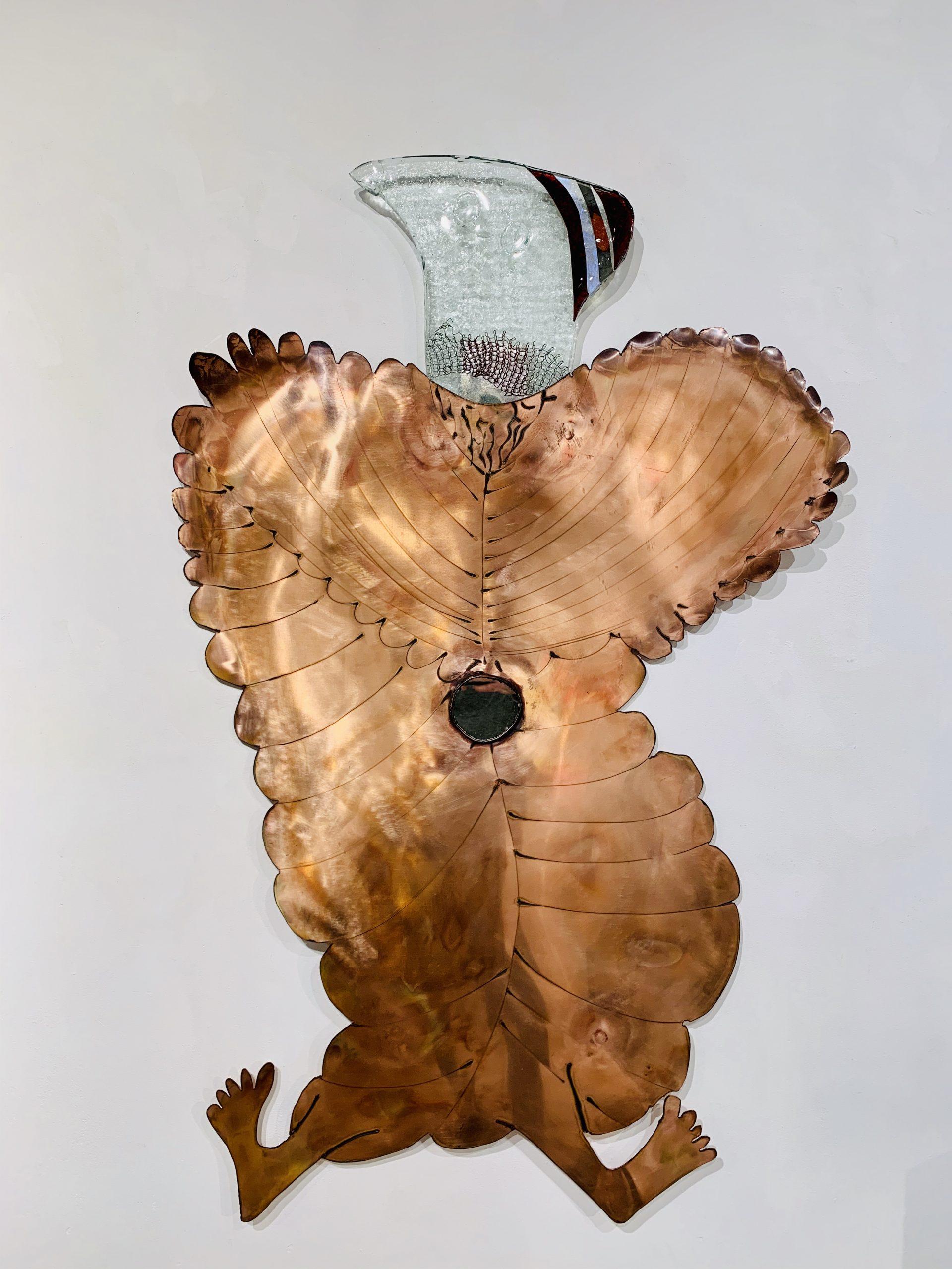 Wandobject Back to an original image 120x75 cm koper brons glas 2 Sjaak Smetsers
