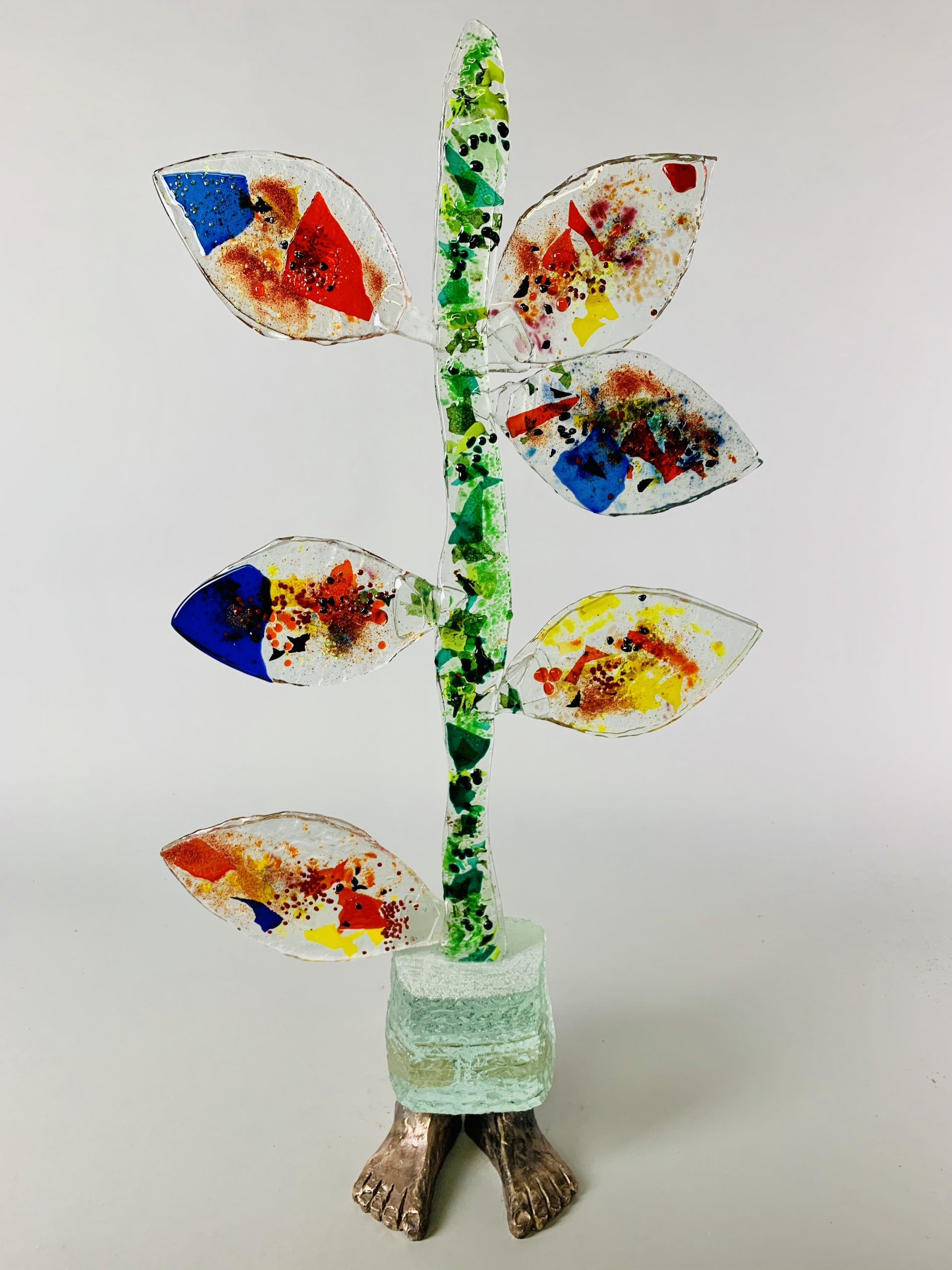 Tree of life 71x38x15 cm Glas Brons SJAAK SMETSERS 3